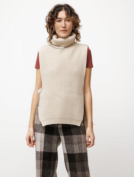 Y's by Yohji Yamamoto Ladder Stitch Knit Dickie - Off White
