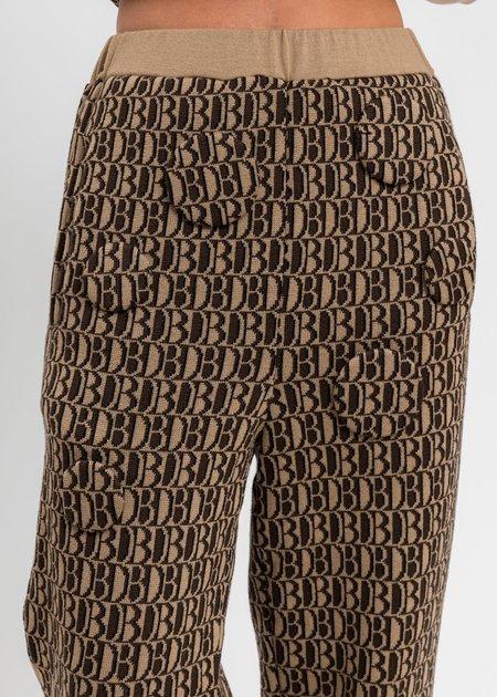 Doublet Monogram JQ Knit Pants - Beige