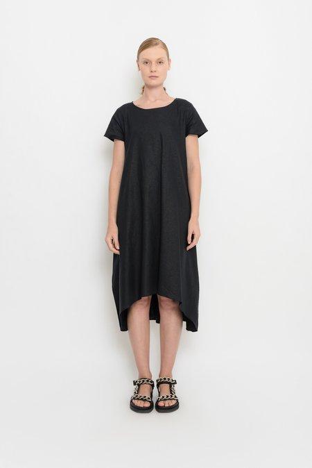 UMA Raquel Davidowicz Linen Midi Dress - Black