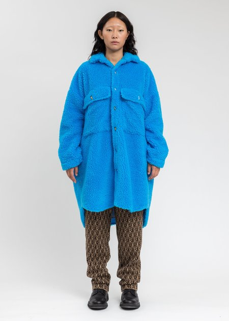 Doublet Recycle Fur Oversized Jacket - Blue