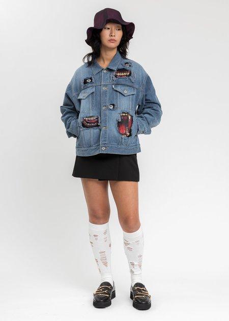 Doublet Recycle Denim Monster Repair Jacket - Indigo