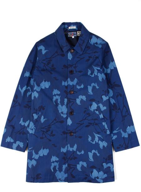 Blue Blue Japan Indigo Cotton Weather Magnolia Single Coat