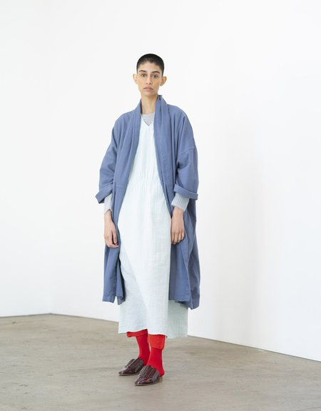 Atelier Delphine Haori Long Coat - Warm Grey