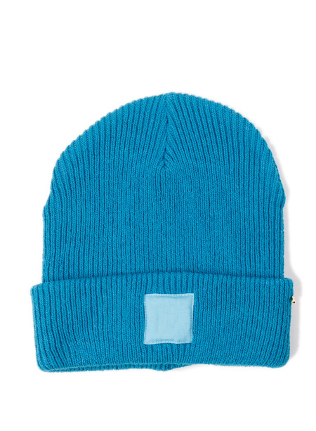 Blue Blue Japan Unisex Recycled Cotton Patched Knit Cap Turquoise