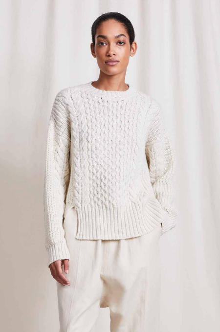 Apiece Apart Nuevo Anni Fisherman Sweater - cream