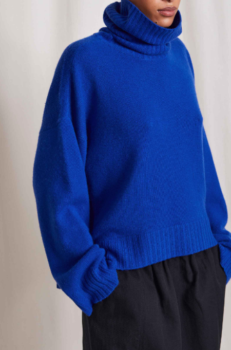 Apiece Apart Vester Turtleneck - Ultramarine Blue