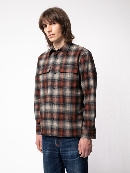 Nudie Jeans Sten Shirt - Shadow Check