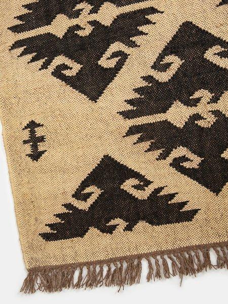vimla jaipur Kanta Diamond Wool/Jute Rug - Natural