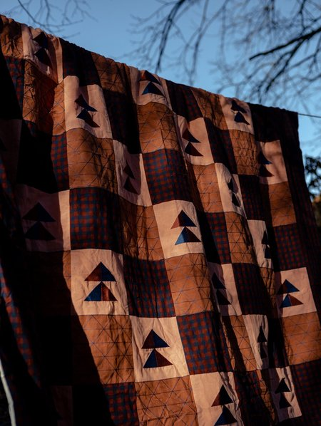 Sideline Hand Stitched Peace Quilt - Mixed Patchwork