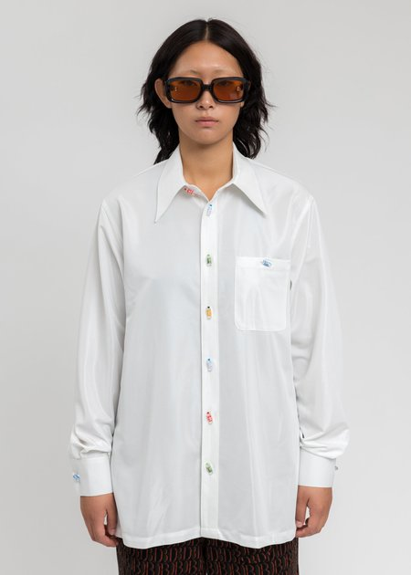 Doublet Recycle Pet Bottle Shirt - White