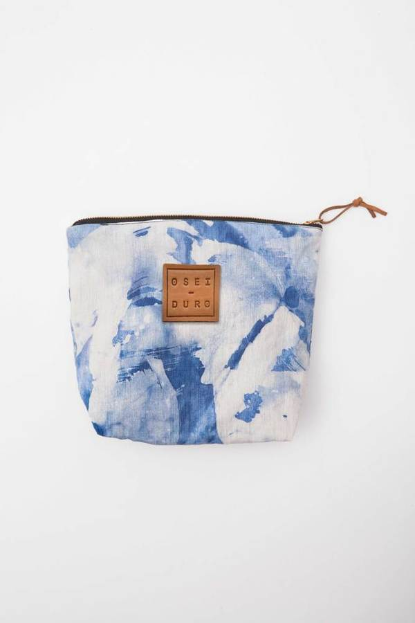 Osei-Duro Stibio Pouch in Blue Abstract