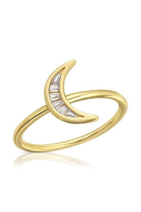 Elizabeth Stone Crescent Baguette Ring