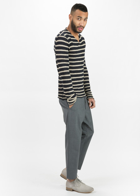 Hannes Roether Zilk Knit V-Neck Sweater