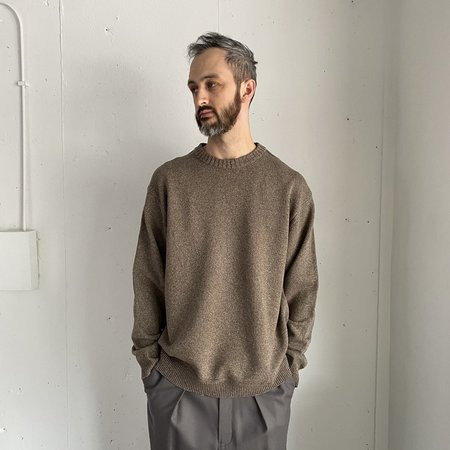 Still By Hand Silk Mix Nepped Knit sweater - Charcoal