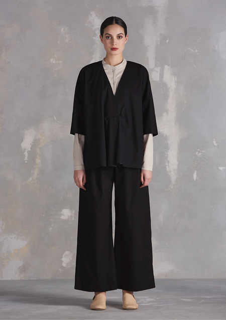 Kowtow Bay Wide Leg Pant, Black
