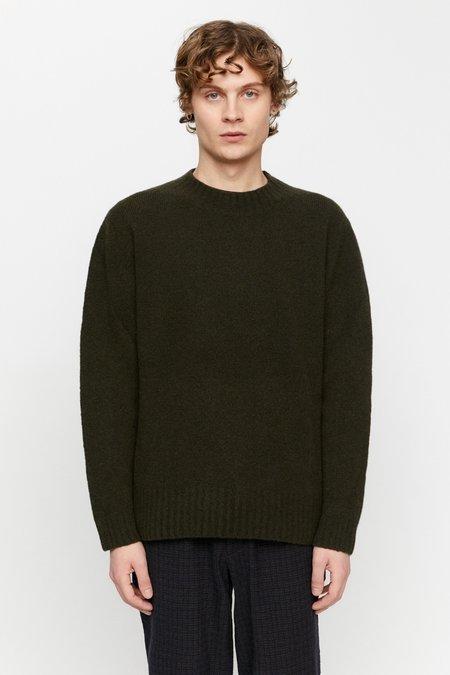 Schnayderman's seamless wool cashmere Crewneck - dark green