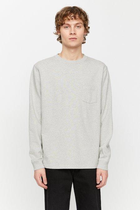 Schnayderman's T-shirt longsleeve - deli print grey melange