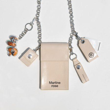 Martine Rose iPhone Chain Bag - Beige