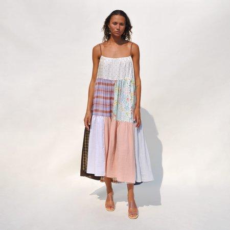 LA RÉUNION Neutral Patchwork Dress No. 33
