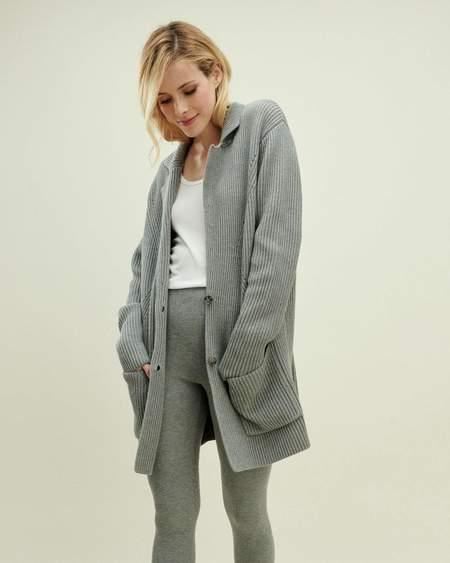 Splendid Charlotte Knit Blazer - Mid Heather Grey