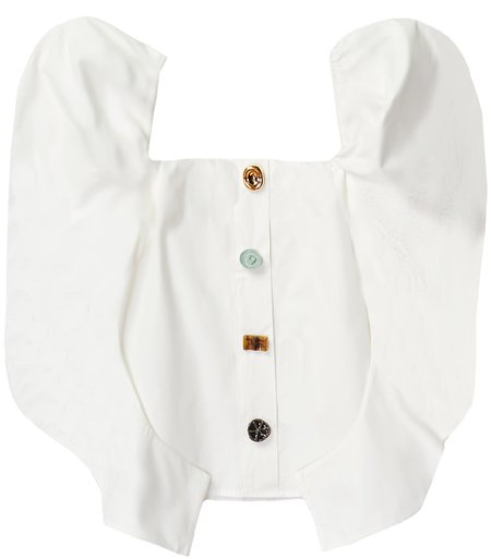 Rejina Pyo Maya Organic Cotton Blouse - Off White