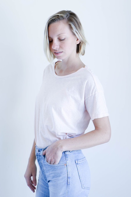 Pharaoh Slub Boyfriend Tee in Blush