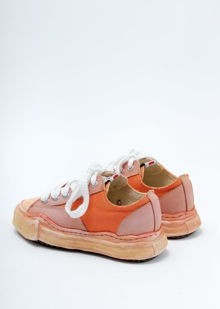 Mihara Yasuhiro Overdyed XL Original Sole Low Cut Sneaker - Orange