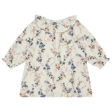 Kids Bonton Baby Damour Dress - Wallpaper Cream Floral Print