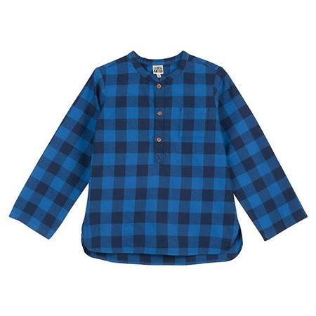 Bonton Child Matteo Arty Checks Shirt - Blue