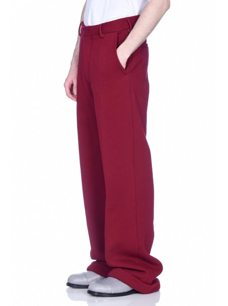 Marni Cotton Jersey Tailored Wide Trouser - Burgundy