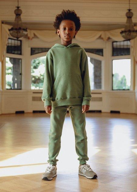 Kids Petits Vilains Ames Drop Shoulder Hoodie - Clover