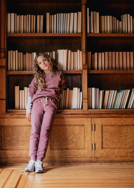 Kids Petits Vilains Michel Classic Sweatpant - Mulberry