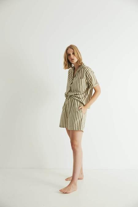 General Sleep Camilla Set - Khaki Stripe