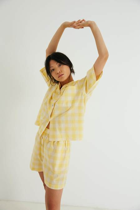 General Sleep Camilla Set - Yuzu Gingham