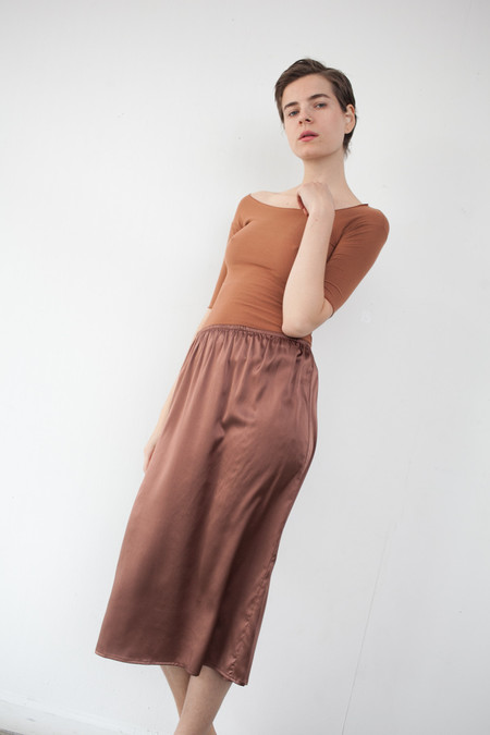 Baserange Jogging Skirt in Dark Brown