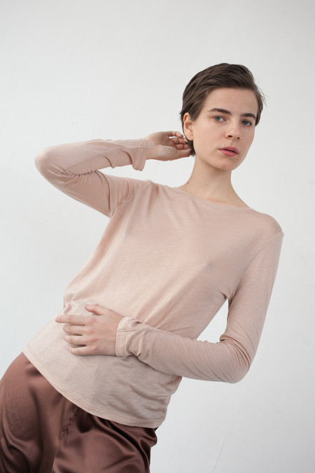 Baserange Long Sleeve Tee in Nude
