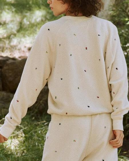 The Great The Sherpa College Sweatshirt - Washed White