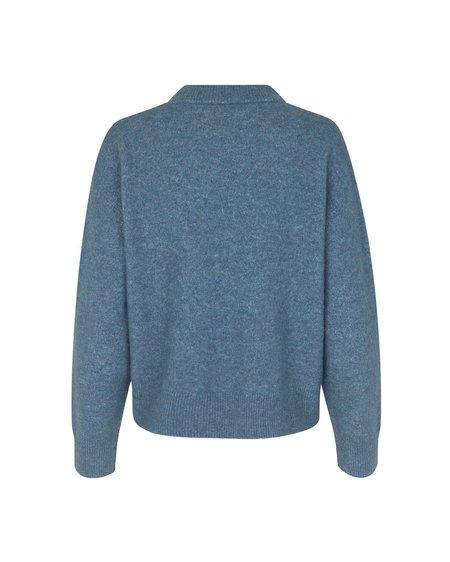 Samsøe & Samsøe W Anour O-N 7355 Sweater - China Blue Melange