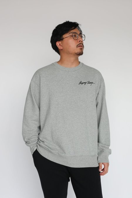 Reigning Champ Autograph Relaxed Crewneck - Heather Grey