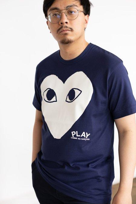 Comme des Garçons Big Heart T-Shirt - Navy