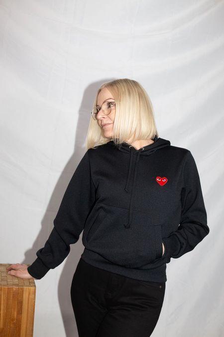Comme des Garçons Pullover Hooded Sweatshirt - Black
