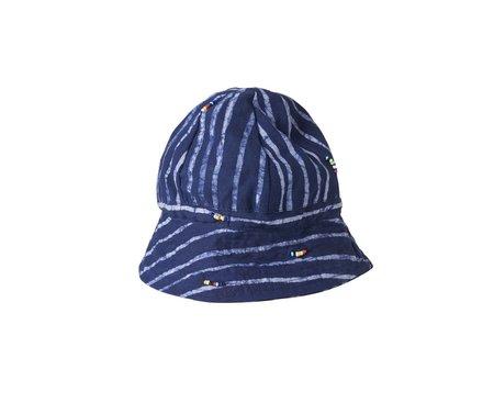 Post-Imperial Elegushi Hat - Indigo/White