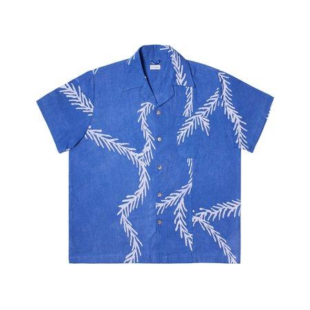 Post-Imperial Ijebu Shirt - Azure/White