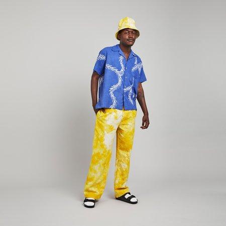 Post-Imperial Ijebu Shirt - Indigo/Yellow