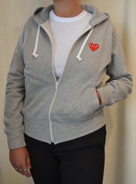 Comme des Garçons Zip Hooded Sweatshirt - GRAY