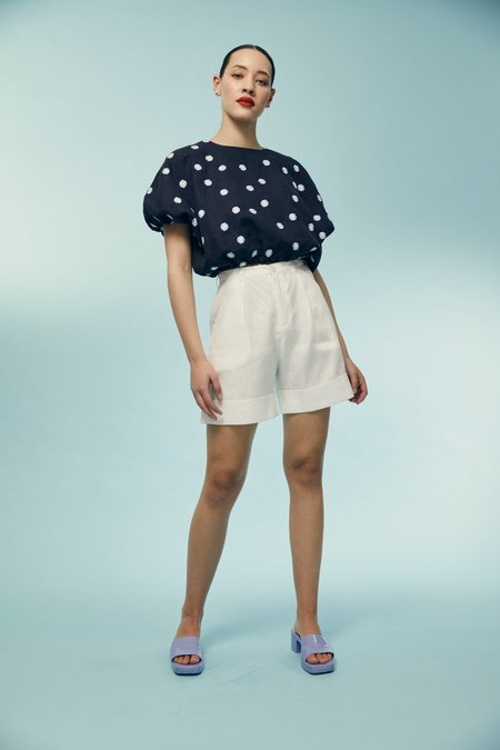 hej hej Oh Ni Hao Shorts - White