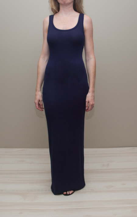 Heather scoop neck maxi tank dress