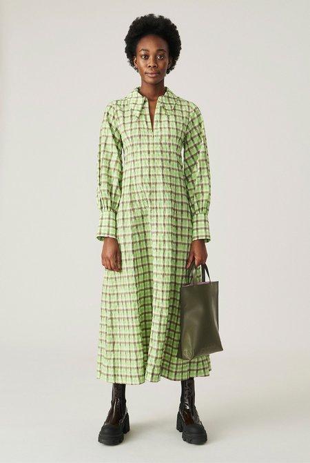 Ganni Responsible Seersucker Maxi Dress - Multi