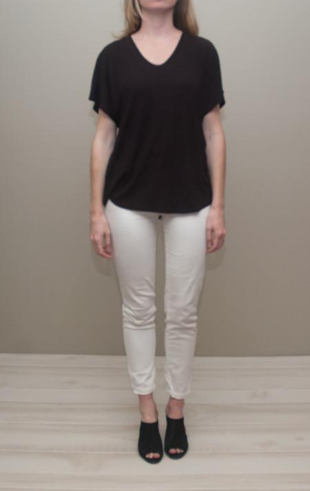 Heather shirt tail tee