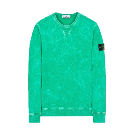 Stone Island Cotton Fleece Off-Dye Men MO751561538-V0050 Sweatshirt - Green